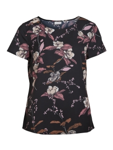 Vila T-shirt VIPAUSINA NEW S/S TOP /RX 14046862 Black/With Print