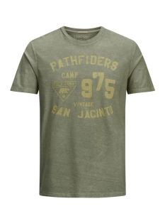 Jack & Jones T-shirt JJVFU CLINT SS TEE 12129241 Covert Green