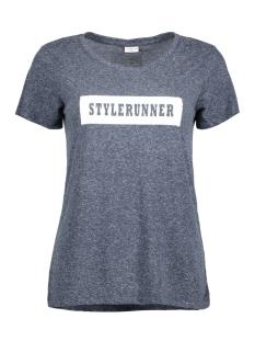 Jacqueline de Yong T-shirt JDYBOLETTE S/S PRINT TOP JRS 15133655 Mood Indigo/ STYLERUNNE