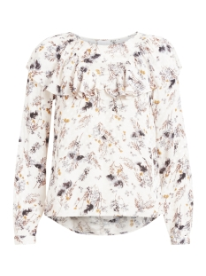 Vila Blouse VIBETH L/S TOP 14044683 Cloud Dancer/Flower