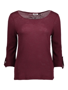 Only T-shirt onlJESS 3/4 TOP JRS NOOS 15096632 Windsor Wine