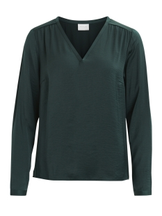 vicava l/s v-neck top-fav 14043501 vila blouse pine grove