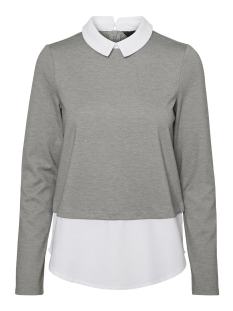 Vero Moda Trui VMCINDY LS SHIRT TOP D5-2 10182302 Medium Grey/Snow