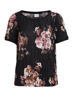 Vila T-shirt VIBLOOMIA S/S T-SHIRT 1 14046493 Black/Flowerprint