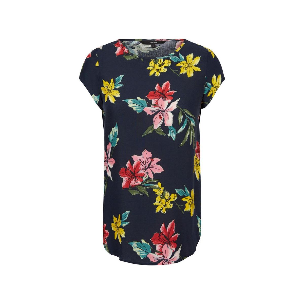 vmboca ss blouse multi printed 10132802 vero moda t-shirt navy blazer/kayla