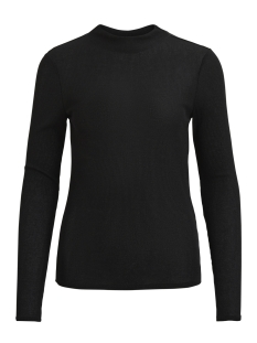 vileja l/s high neck t-shirt/p 14043188 vila t-shirt black/tone