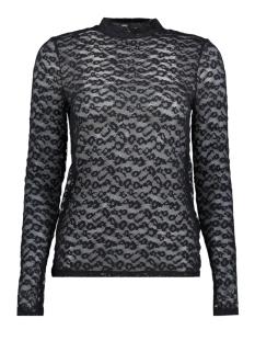 Vero Moda T-shirt VMMASHA LEOPARD LS TOP JRS 10185767 Black