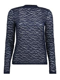 Vero Moda T-shirt VMMASHA LEOPARD LS TOP JRS 10185767 Navy Blazer