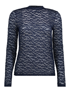 vmmasha leopard ls top jrs 10185767 vero moda t-shirt navy blazer