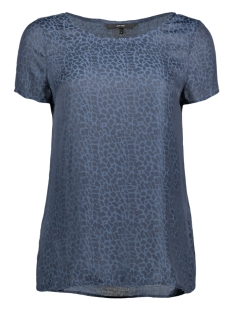 Vero Moda T-shirt VMAMILIA SS TOP 10185385 Navy Blazer