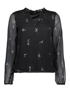 Vero Moda Blouse VMFIONA LIGHT LS TOP 10188874 Black/SILVER