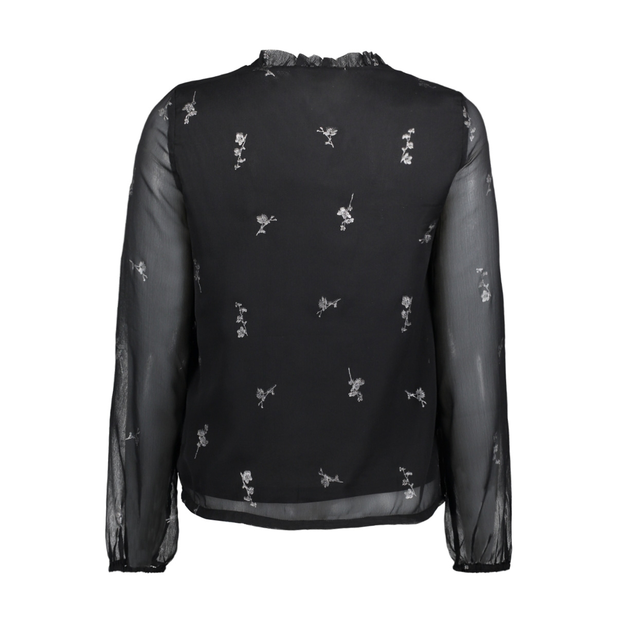 vmfiona light ls top 10188874 vero moda blouse black/silver