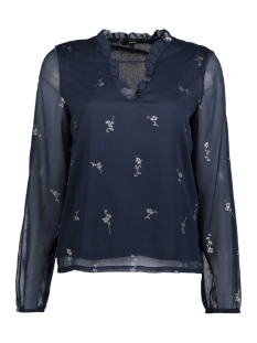 Vero Moda Blouse VMFIONA LIGHT LS TOP 10188874 Navy Blazer/SILVER