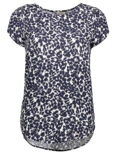 Vero Moda T-shirt VMBOCA SS BLOUSE PRINTED 10128072 Oatmeal/Katrine