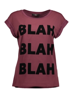 Only T-shirt onlVELVET DETAILED S/S TOP JRS BOX 15142633 Port Royale/Blah Blah