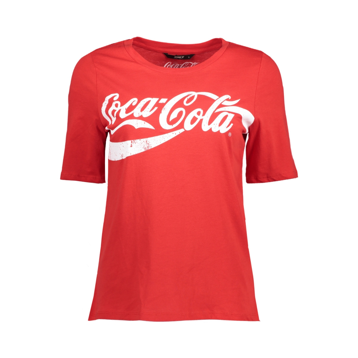 onlcoca cola tee jrs 15151703 only t-shirt racing red/white