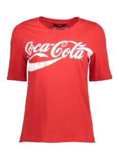 Only T-shirt onlCOCA COLA TEE JRS 15151703 Racing Red/WHITE