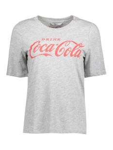 Only T-shirt onlCOCA COLA TEE JRS 15151703 Light Grey Mela/RACING RED
