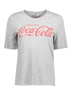 Only T-shirt onlCOCA COLA TEE JRS 15151703 Light Grey Mela/RACING RED