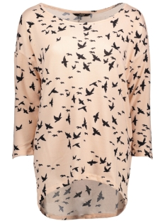 Only Trui onlELCOS 4/5 BIRDS TOP JRS 15150649 Mahogany Rose/Black Bird