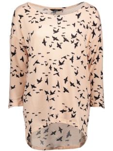 Only Trui onlELCOS 4/5 BIRDS TOP JRS 15150649 Mahogany Rose/Black Bird