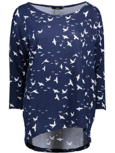 Only Trui onlELCOS 4/5 BIRDS TOP JRS 15150649 Night Sky/Cloud Danc