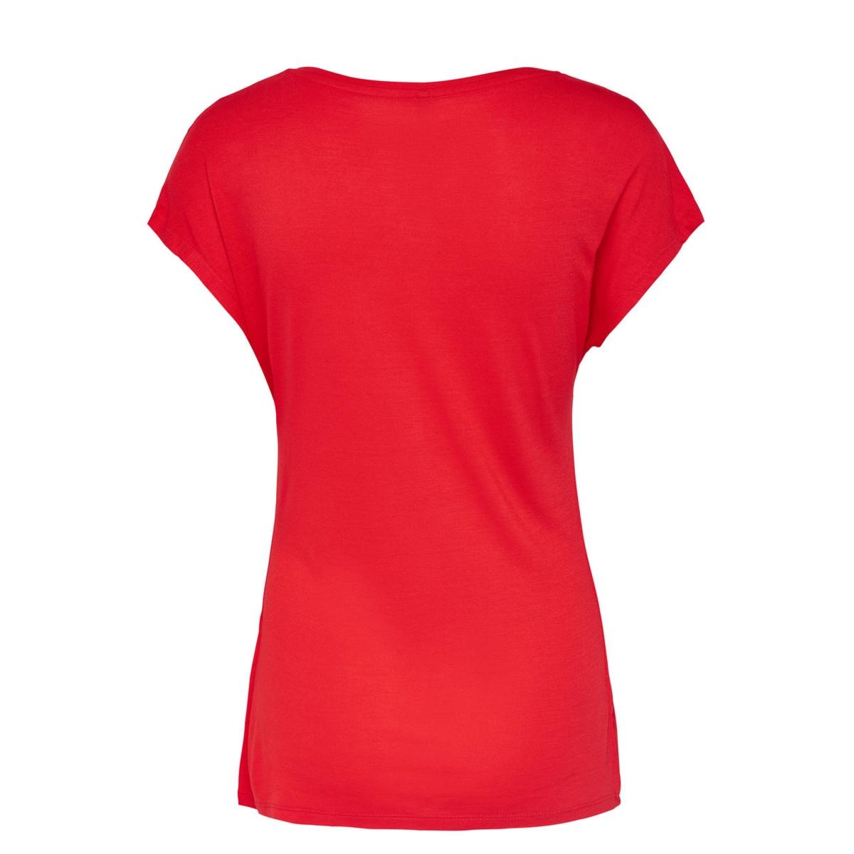 onlviscose s/s fav print top box es 15149797 only t-shirt flame scarlet/tomboy