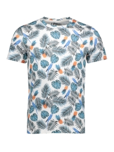 Jack & Jones T-shirt JORBOTANIQUE AOP TEE SS CREW NECK 12137048 Cloud Dancer