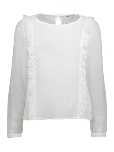 onlsusanne l/s frill top wvn 15144154 only blouse cloud dancer