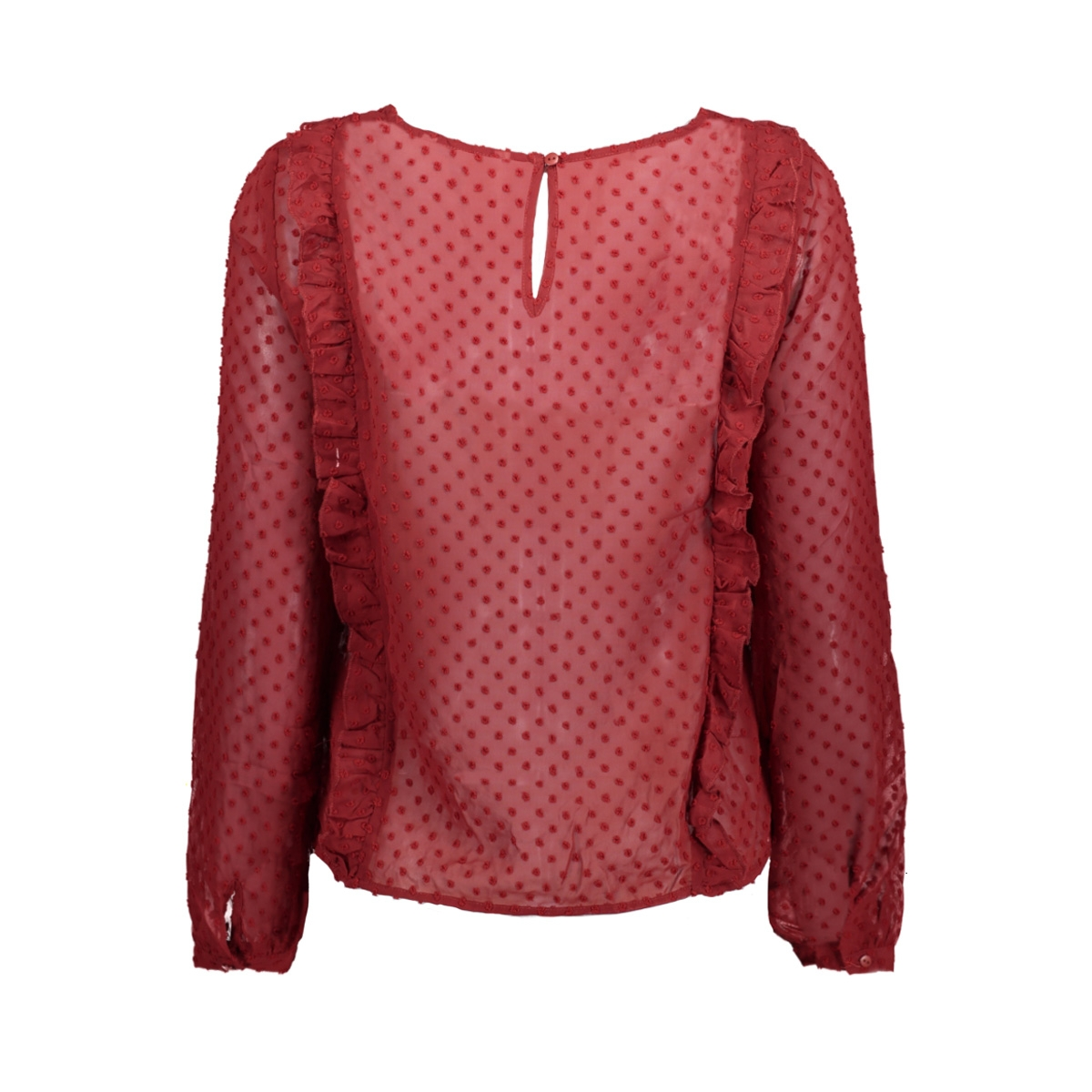 onlsusanne l/s frill top wvn 15144154 only blouse sun-dried tomato