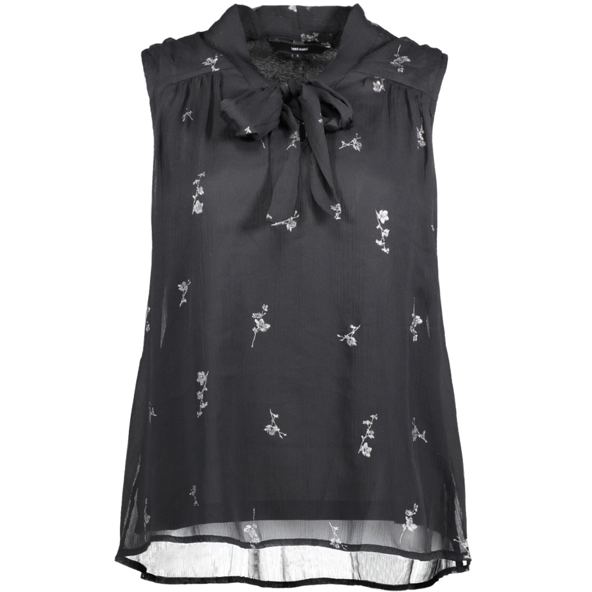 vmfiona light sl top 10188875 vero moda top black/silver pri