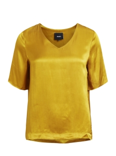 Object T-shirt OBJNORA 2/4 TOP AU A 23026370 Harvest Gold