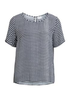 Vila T-shirt VIKANY S/S TOP 14046162 Dark Navy/Cloud Dancer