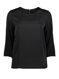 Only Blouse onlRIGA 3/4 SLEEVE TOP SOLID WVN 15144912 Black