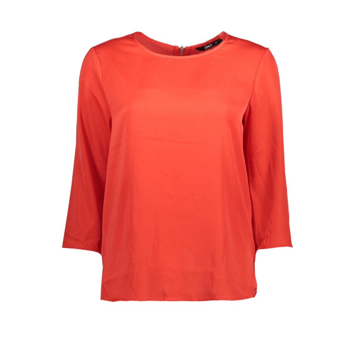 onlriga 3/4 sleeve top solid wvn 15144912 only blouse flame scarlet