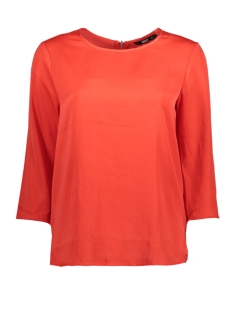 Only T-shirt onlRIGA 3/4 SLEEVE TOP SOLID WVN 15144912 Flame Scarlet