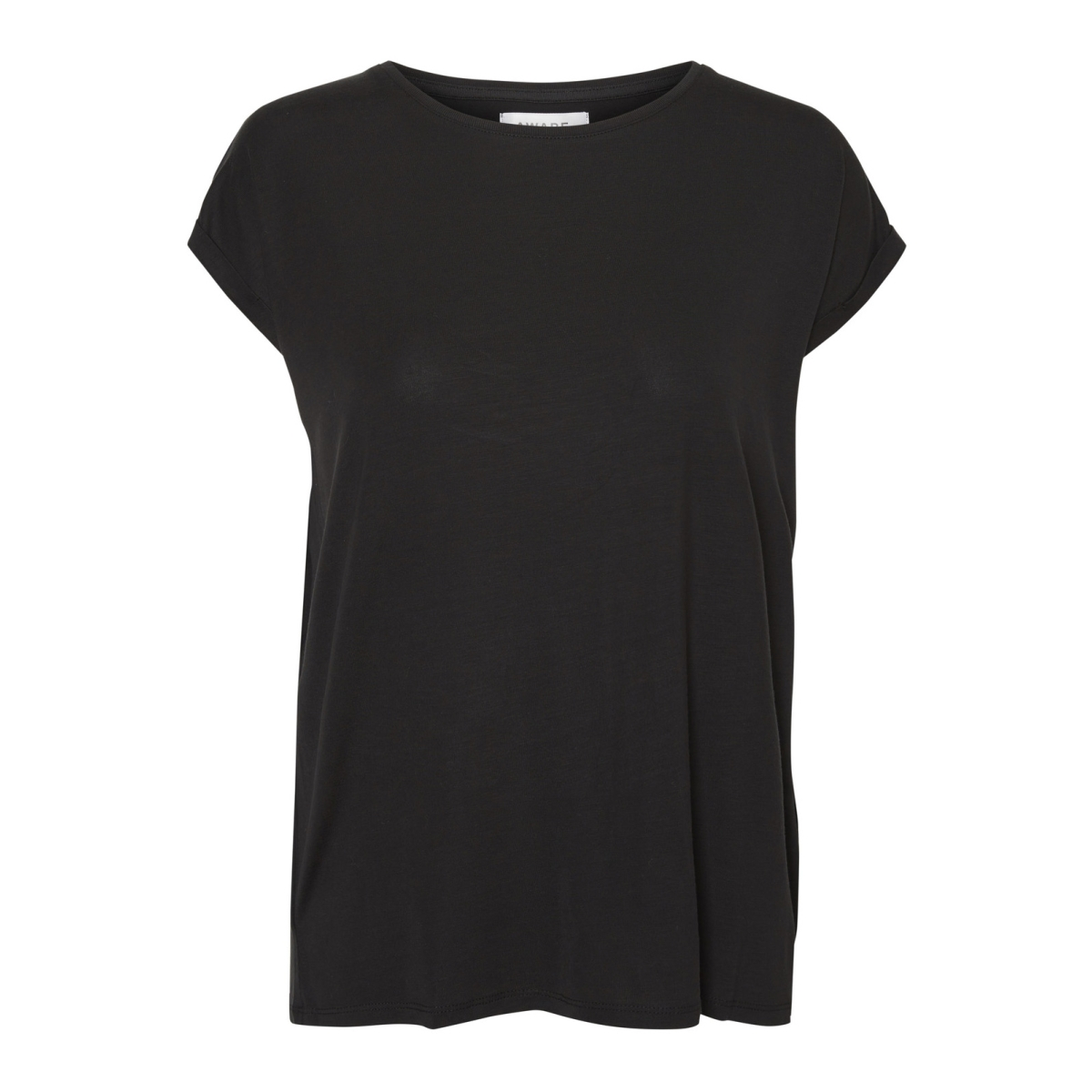 vmava plain ss top ga noos 10187159 vero moda t-shirt black