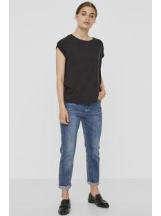 vmava plain ss top ga noos 10187159 vero moda t-shirt black