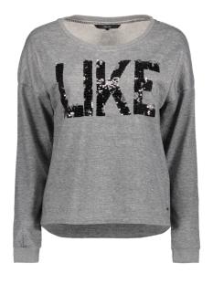Vero Moda Sweater VMDIDDE LS CAMPUS SWEAT SWT 10186494 Light Grey Melange/ Gunmetal