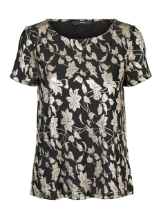 Vero Moda T-shirt VMROMEO SS TOP 10187899 Black/Gold Foil
