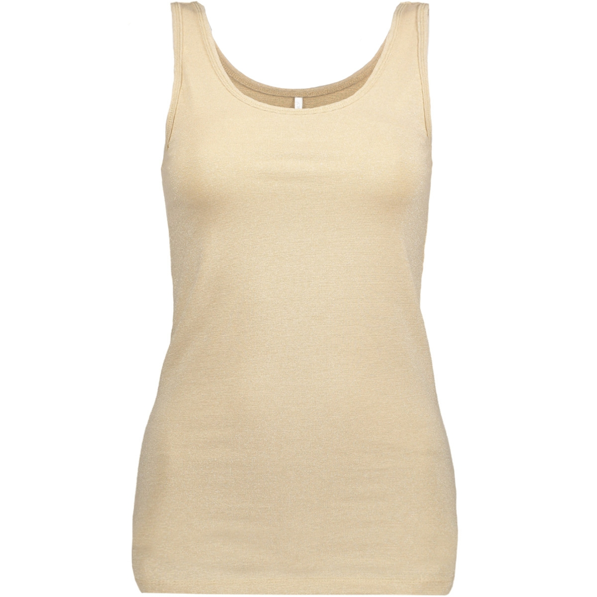 onllive love glimmer tank top noos 15101819 only top frosted almond