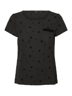 Vero Moda T-shirt VMSASHA VELVET SS TOP NOOS 10195835 Black/Velvet Sta