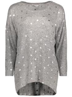 Only Sweater onlMELIA 3/4 TOP JRS 15140214 Light Grey Melange/ Silver Foi