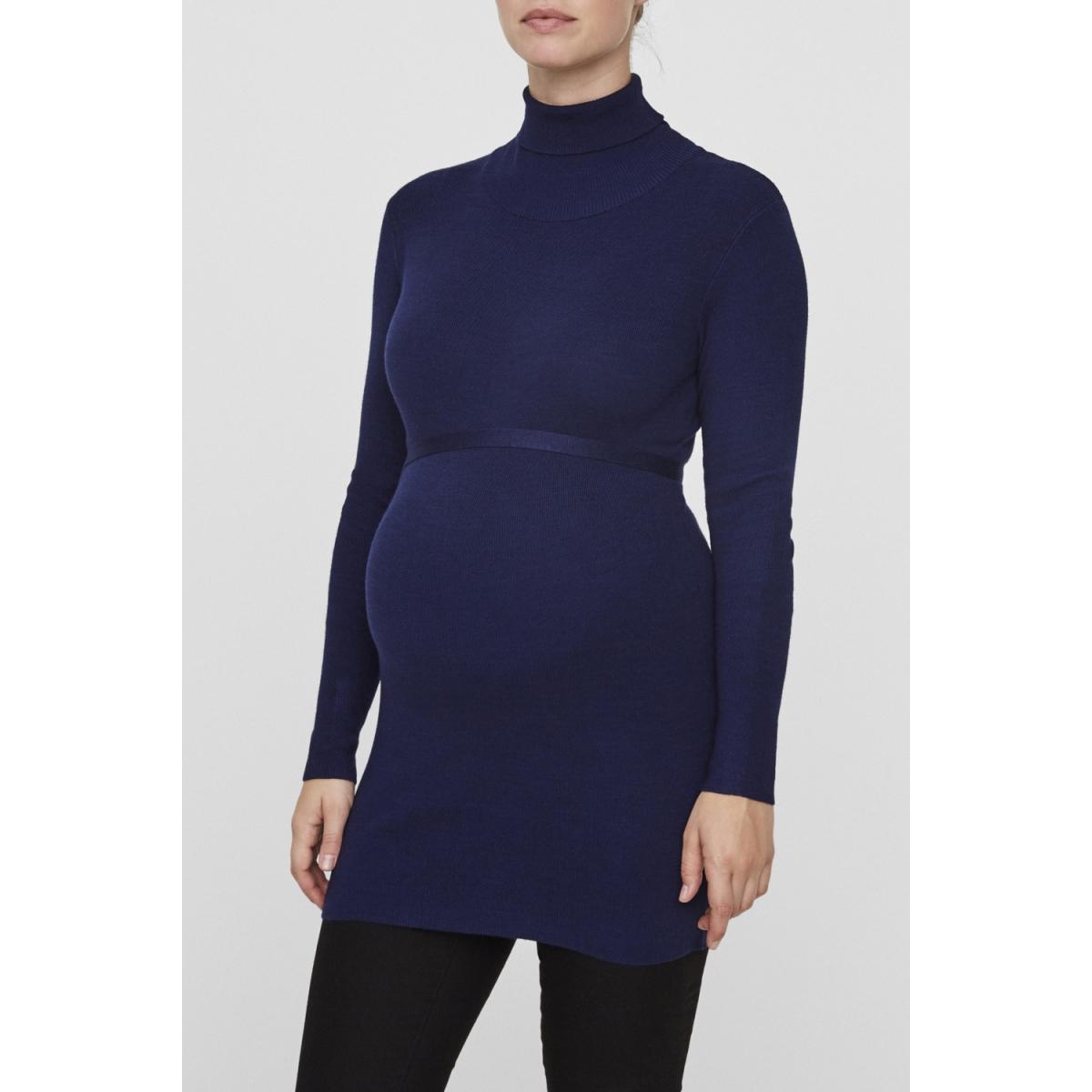 mljacina l/s knit rollneck 20004688 mama-licious positie trui medieval blue