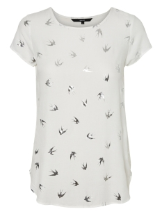 Vero Moda T-shirt VMMIXY FOIL S/S TOP EXP 10198663 Snow White/ Bird Silver