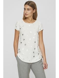 vmmixy foil s/s top exp 10198663 vero moda t-shirt snow white/ bird silver