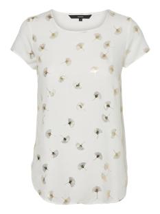 vmmixy foil s/s top exp 10198663 vero moda t-shirt snow white/ gingo