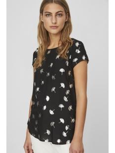 vmmixy foil s/s top exp 10198663 vero moda t-shirt black/ gingo