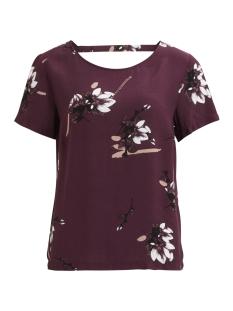 vijoshlin s/s top 14046119 vila t-shirt fig/with flowe