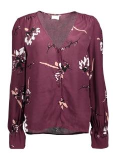 vijoshlin l/s shirt 14046122 vila blouse fig/with flower